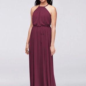 David's Bridal Size 10 Bridesmaid Dress Wine Color